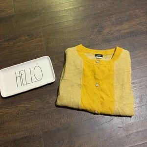 J Crew Mustard Wool Button Cardigan